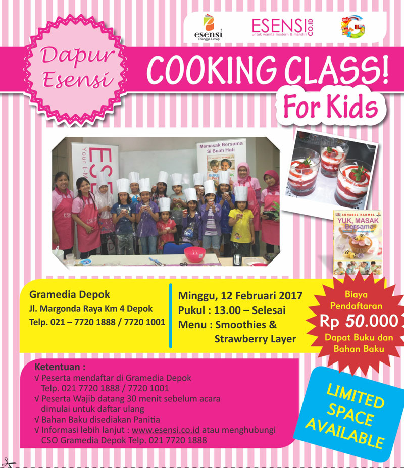 Cooking Class for Kids bersama Esensi