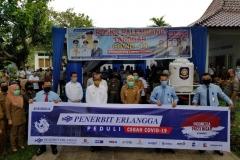Bantuan CSR Erlangga Peduli Covi-19 kepada SATGAS Covid 19 Kota Palembang