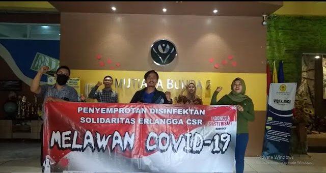Cegah COVID-19, Penerbit Erlangga Bakti Sosial di TK SD Sidoarjo. Sumbang Alat Belajar dan Sembako
